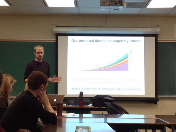 Andrew presenting during Open Access Week